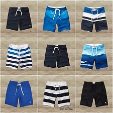 ABERCROMBIE & FITCH Men`s Swim Shorts Classic Fit Board Trunks NEW ,by Hollister
