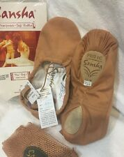 Sansha Canvas ballet dance shoe Demi-Pointe FLESH PRO 1C sz 10-18 ADULT