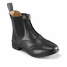Harry Hall Womens Eston Paddock Jodhpur Boots Cushioned Shoes Pull On Design