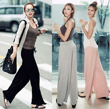 New Hot Women Casual Wide Leg Long Stretch Pants Bohemian Loose Palazzo Trousers