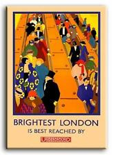 PREMIUM CANVAS Art Deco London Underground MANY SIZES