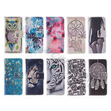 For iPhone Nokia Alcatel Painted Excellent Folio Leather Durable Card Case Cover