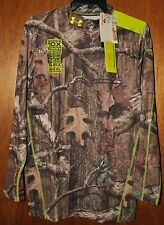 NWT Men's Under Armour EVO Camo Scent Control Mock Shirt #1228129 Choose Size