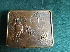 10KT GOLD LOGO Pacific Northwest Bell Telephone O.C. Tanner Belt Buckle