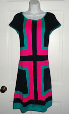 NWT LILLY PULITZER TRUE NAVY ROMANTIC INTARSI ISABELLA SWEATER DRESS M L $168