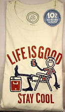 Life Is Good Men T-Shirt Stay Cool Ivory Classic Fit NWT