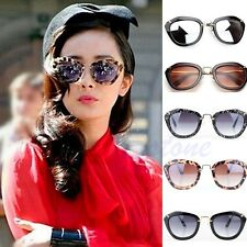 Retro Vintage Women Classic Cats Eye Designer Shades Leopard Frame Sunglasses