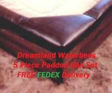 KING 5 Pc Waterbed Padded Rail Set-Dk Brown or Black Vinyl Rails-FREE SHIP