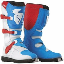 NEW MENS ADULT MX MOTOCROSS ATV RIDING BOOTS THOR BLITZ CE RED BLUE