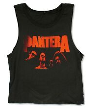 "PANTERA ""RED FACES"" BLACK SLEEVELESS MUSCLE T SHIRT NEW OFFICIAL JRS"