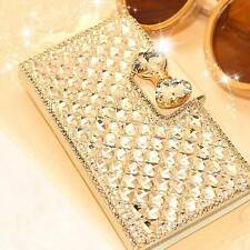 Luxury Bling Bowknot Crystal Diamond Wallet Flip Hard Case Cover For iPhone