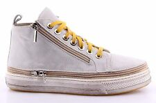 Women's High Top Sneakers CHANGE! BrIck Crosta Ghiaccio Suede Ice Made In Italy