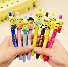 Cute Despicable Me 2 Minions Figures Inks Ballpoint Pen Kids Stationery Gifts 1P