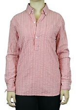 STEVEN ALAN Red Striped Long Sleeve Boyfriend Pullover Tunic WST52CT NWT $178