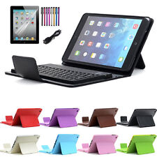 Leather Case Cover For Apple iPad Mini Retina with Wireless Bluetooth Keyboard