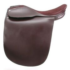 """Lane Fox Saddleseat Havana Brown Leather with Suede Seat (17"""",18"""",19"""",20"""",21"""")"""