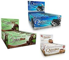 QUEST PROTEIN BARS 3-PACK Gluten Free Sugar Free 36 BARS - PICK FLAVORS