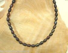 "4.5MM 1-STRAND CULTURED FRESHWATER BLACK PEACOCK OVAL PEARL ANKLET 9""-11"" YP #1"