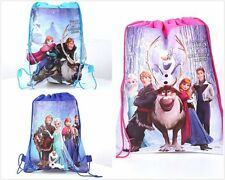 2PCS NEW Frozen Bag Princess Environmental Drawstring Swimming PE Toy For Disney