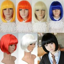 Vogue Women's Sexy Full Bangs Short Straight Wig BOBO Cosplay Party Full Wigs
