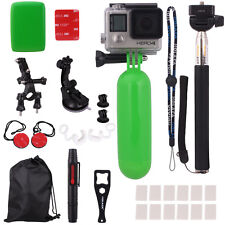 Monopod Pole Floating Grip Suction Cup Accessories Pack for GoPro Hero2 3 3+ 4
