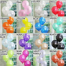 100 PCS multicolour Color  Pearl Latex Balloons Birthday Wedding Baby Party  12""