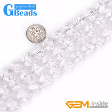 12mm Natural White Crystal Clear Quartz Carved Rose Flower Beads Strand 15""