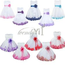 Flower Girl Princess Dress Birthday Party Pageant Wedding Bridesmaid Kid Recital