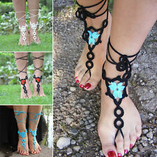 New Hot Barefoot Sandals Sexy Beach Crochet Ankle Bracelet Anklet Toe Ring Chain