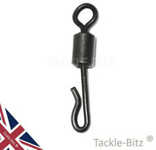 Size 8 Matt Black Quick change swivels for Fishing tackle carp safety clips