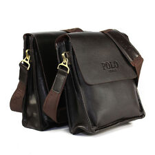 Vertical Leather POLO Men's Fashion Shoulder Messenger Bags Handbag Briefcase