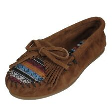 Minnetonka 402K Wildleder Mokassin Kilty Brown Arizona Edition Ballerinas Braun
