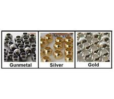 6mm Round Large Hole Metal Beads Choose Color/Qty Silver Gold Gunmetal