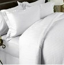 LUXURIOUS STRIPE WHITE 1500 THREAD COUNT 8 PIECE GOOSE DOWN BED IN A BAG SET
