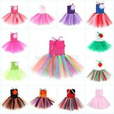 Baby Toddler Infants Girls Sweet Cute Party Chiffon Tutu Dress Newborn 0-5 Years