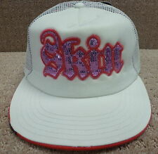 "Skin Industries Women's Trucker Hats ""Gothic Large Sequins"" Color White"