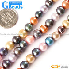 Natural Mixed Color Gemstone Freshwater Necklace Pearl Loose Beads Strand 15""