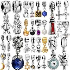 Genuine Fashion 925 Sterling Silver Charms Beads fit European Bracelet Necklace