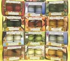 (M - Z) Yankee Candle TEA LIGHT CANDLES Box of 12 Tealights 23 SCENT CHOICES