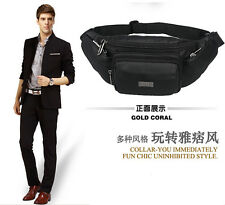 Casual Man Fanny Pack Genuine Leather Card Quality Waist Bag Holder Zipper