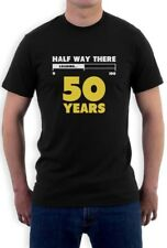 Half Way There 50 Years Funny 50th Birthday Gift Idea T-Shirt Loading 100