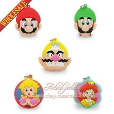 5PCS Super Mario Bros Pendants Charms for Keychains & necklace & Bracelets,Gifts