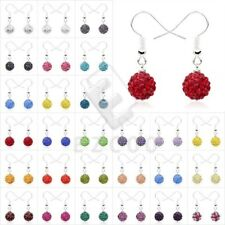 1 Pair Crystal Rhinestones and Clay Earrings Shining Jewelry Beads Free Ship