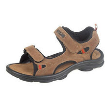 PDQ Brown Suede Leather Sports Velcro Mens Sandals 6-12