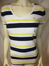 TOMMY HILFIGER womens multi v- neck tee top new nwt