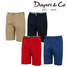 2016 Dwyers & Co Designer Titanium Chino Flat Front Mens Funky Golf Shorts