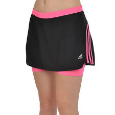 adidas Performance Response Womens Two in One Running Gym Skirt Skort - Black