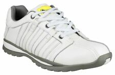 New Amblers Unisex FS49 White Leather Steel Toe Cap Safety Work Trainers Shoes