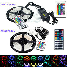 SMD 3528 5050 LED RGB Flexible Strip Light Waterproof + IR44 IR24 Remote + Power