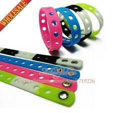 1Pcs 18CM Fashion Silicone Wristbands Bracelets For Kids toy Mixed 14 Colors